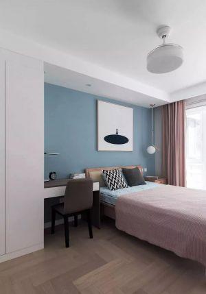 美轮美奂简欧蓝色背景墙装修设计