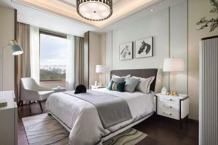 卧室床中式装潢设计图片