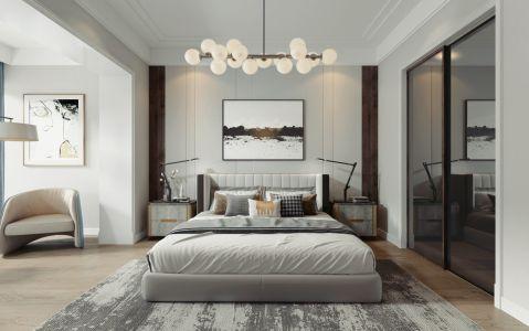 现代卧室背景墙效果图图片