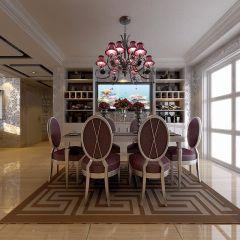 2020新古典餐厅效果图 2020新古典餐桌装修图片