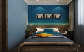 客厅蓝色走廊装修实景图片