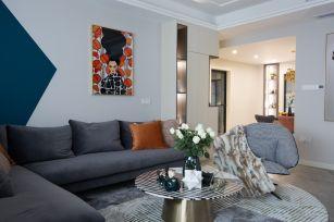 奢华白色客厅装潢效果图