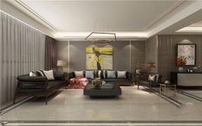 新古典客厅背景墙装饰效果图