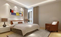 沉稳现代简约白色床效果图图片