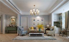 文艺暖色系沙发室内效果图