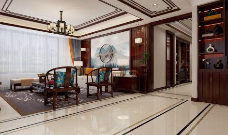 客厅沙发新中式装饰实景图