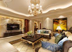 2020欧式240平米装修图片 2020欧式三居室装修设计图片