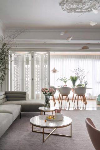 2020混搭客厅装修设计 2020混搭茶几效果图