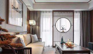 2020中式客厅装修设计 2020中式隐形门装修效果图片