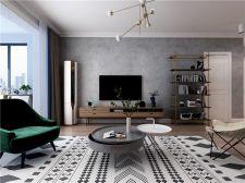 2020現代110平米裝修設計 2020現代三居室裝修設計圖片