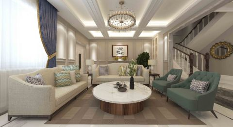 奢华米色沙发装潢图