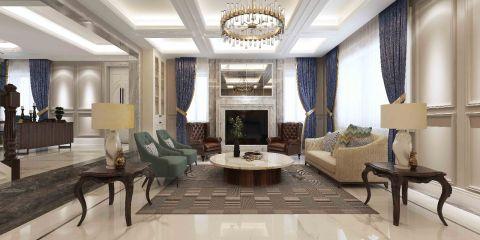 2020美式客厅装修设计 2020美式吊顶图片