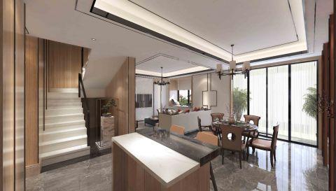 2020新中式餐厅效果图 2020新中式吧台装饰设计