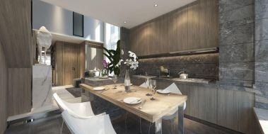 后现代客厅餐桌装饰设计图片