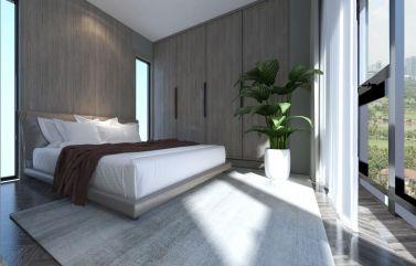 大气卫生间床室内效果图