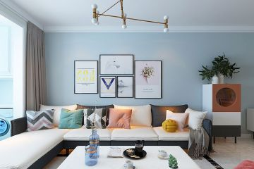 古朴白色客厅家装设计图