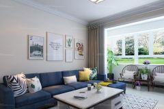 客厅白色细节装潢设计图片