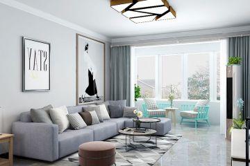 温馨白色客厅装潢设计图片