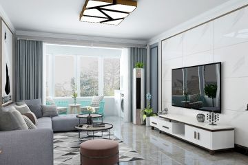 简洁客厅细节装饰效果图