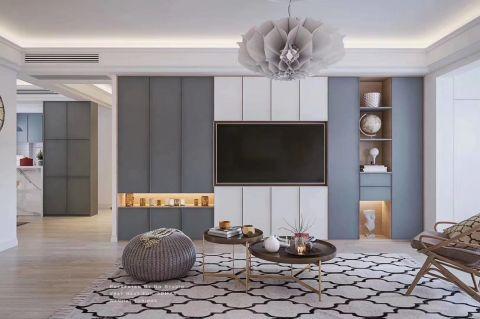 客厅背景墙北欧装饰效果图