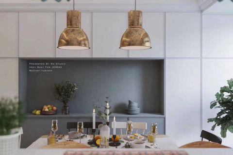 2020北欧餐厅效果图 2020北欧餐桌装修图片