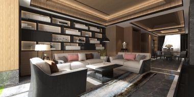2020现代简约客厅装修设计 2020现代简约沙发装修图