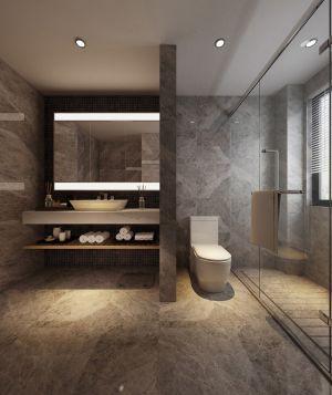 精品冷色系浴室柜装饰图