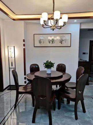 中式餐厅地板装潢设计图片