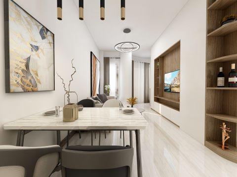 2020现代简约70平米设计图片 2020现代简约四合院装饰设计