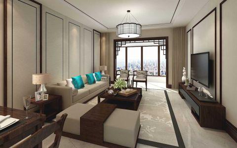 2021新中式70平米设计图片 2021新中式二居室装修设计
