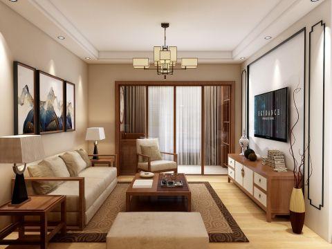 2020中式70平米设计图片 2020中式二居室装修设计