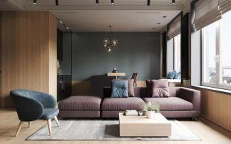 2021新古典70平米设计图片 2021新古典二居室装修设计