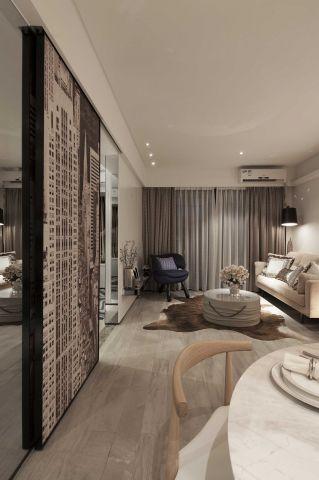 100平米中式二居室装修效果图
