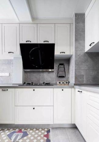 北欧厨房地砖装潢效果图