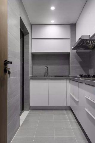 美輪美奐廚房地板磚裝飾圖
