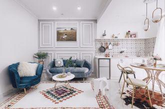 美式90平二居室裝修效果圖