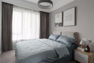 卧室窗帘日式装修案例图片