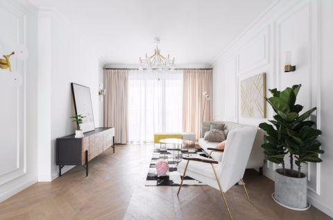 2020现代简约客厅装修设计 2020现代简约地板效果图