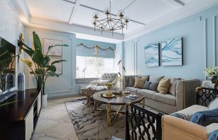 2021美式客厅装修设计 2021美式沙发装修设计