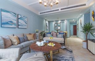 2021美式客厅装修设计 2021美式茶几效果图