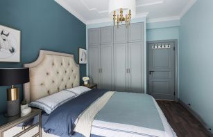 2021美式卧室装修设计图片 2021美式地板装修图片