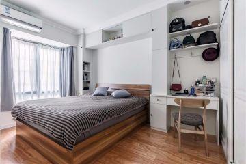 臥室紅木色地板裝飾設計圖片