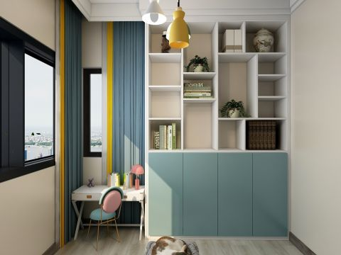 客厅米色地板装潢设计图片