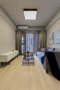 客廳米色地板裝潢設計圖片