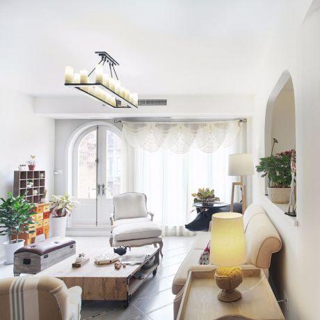 2020地中海110平米装修设计 2020地中海三居室装修设计图片