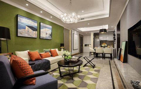2020現代簡約客廳裝修設計 2020現代簡約吊頂設計圖片