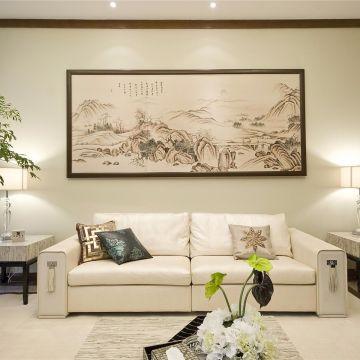 2020中式90平米装饰设计 2020中式三居室装修设计图片