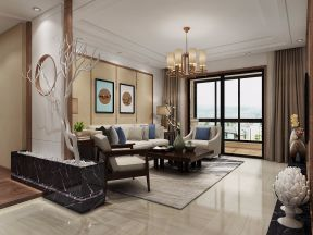 2020中式客廳裝修設計 2020中式吊頂設計圖片
