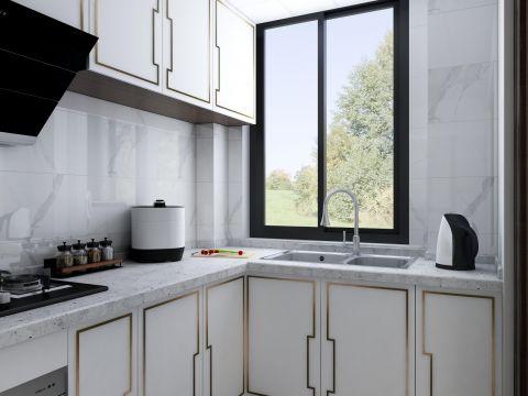 2020新中式厨房装修图 2020新中式灶台装修设计