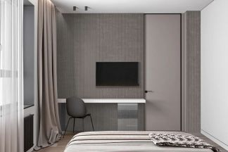 2021简单卧室装修设计图片 2021简单隐形门装饰设计